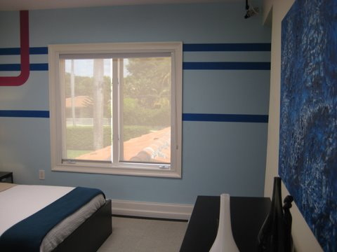 Painting in Blue Room