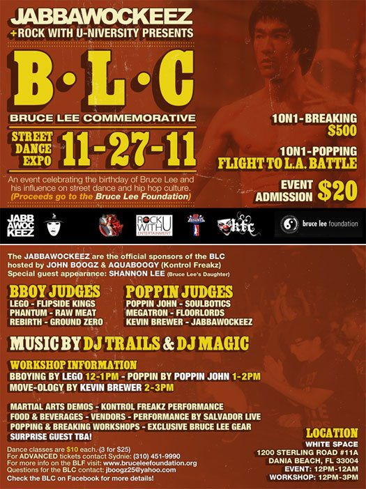 Bruce Lee Foundation Event w DJ Trails & MMA Demo