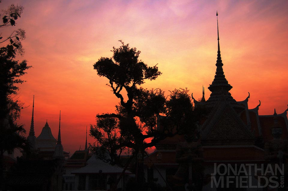 Sunset in Bangkok Photography