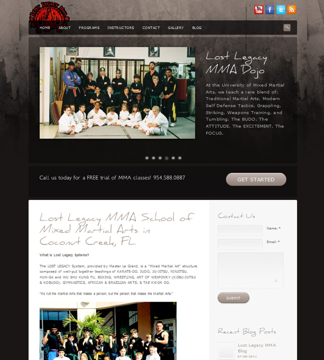 Martial Arts Web Design MMA School