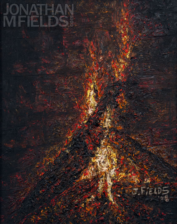 Fire Oil Painting on Canvas