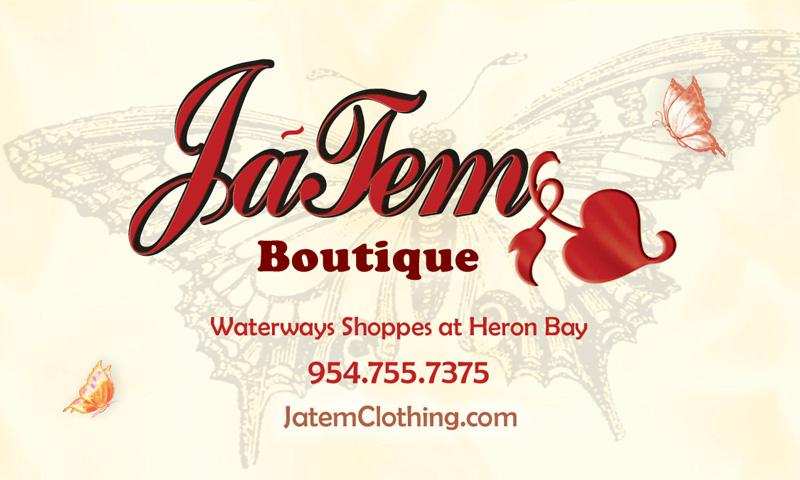 Jatem Logo Design - Front of Business Card