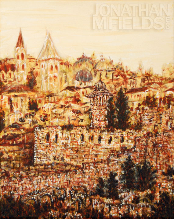Jerusalem Acryclic Painting
