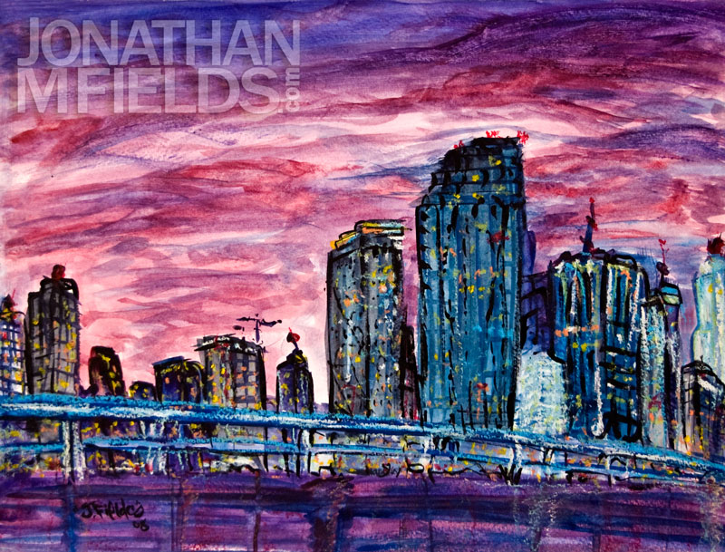 Downtown Miami Painting