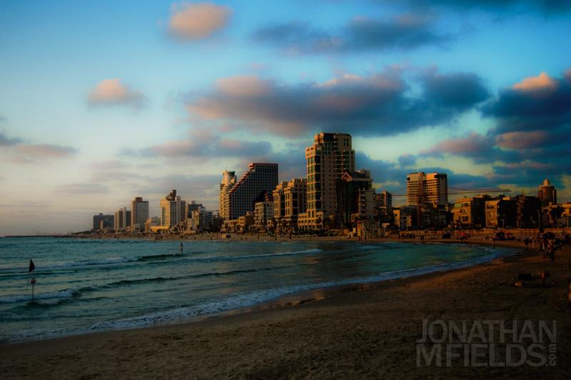 Gordon Beach Sunset in Tel Aviv, Israel Photography