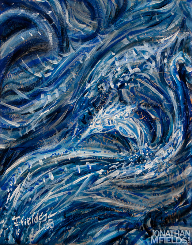 Blue Dolphin Painting