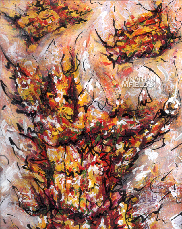 Burning Bush Painting