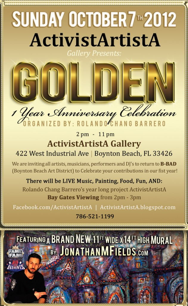 Golden Boynton Beach Art Walk Flyer