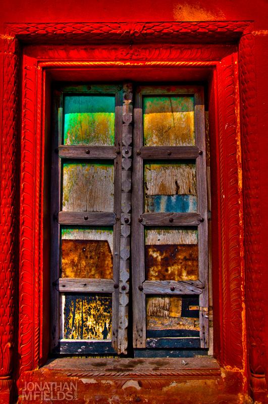 Indian Colored Door
