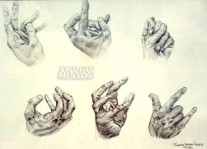Graphite Pencil Hand Study 2001