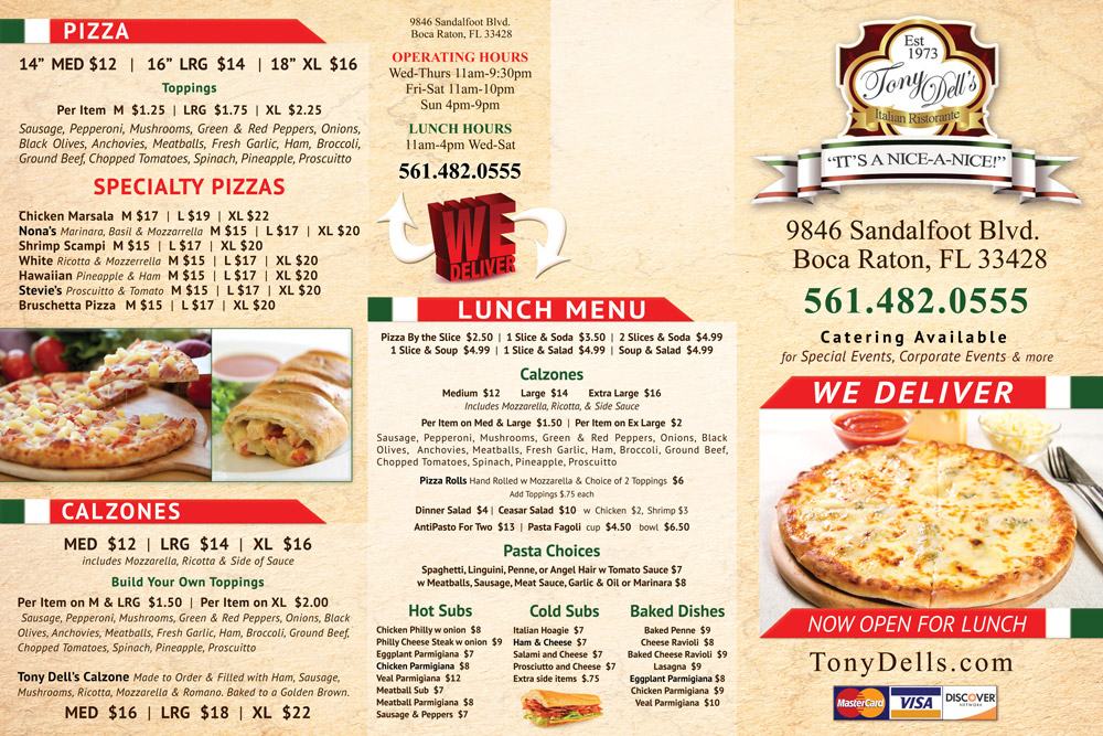 Tony-Dells-Menu-Design-Front