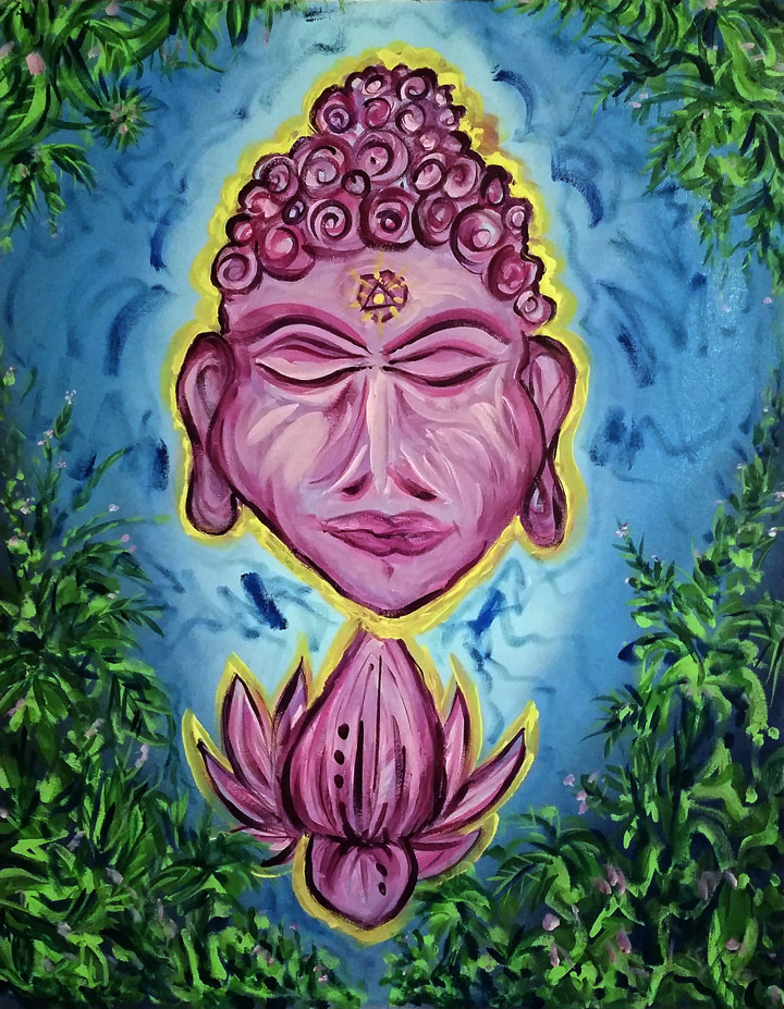 StreetArt Buddha Painting Trails1
