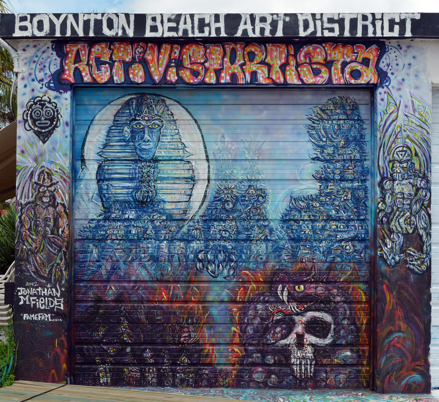 Boynton Beach Art District Mural Street Art