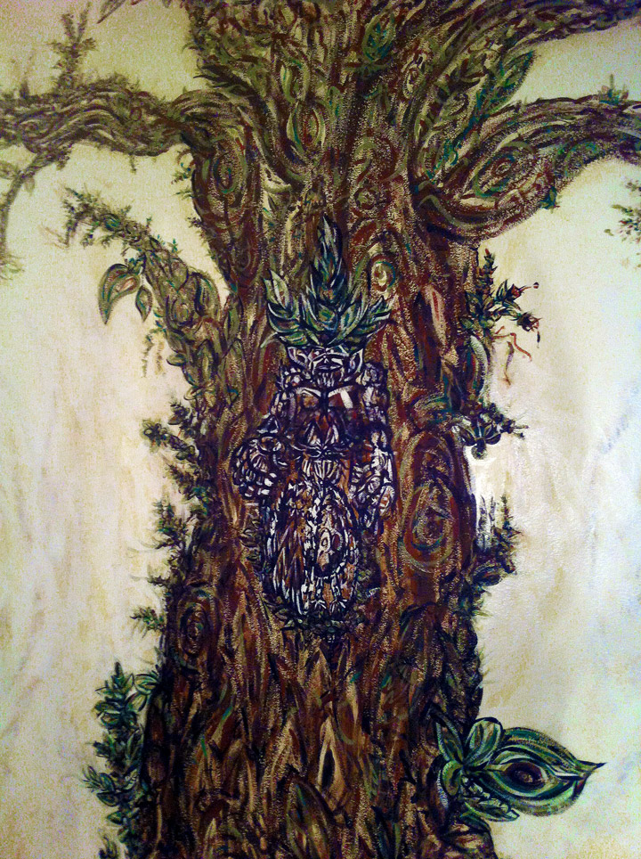 Tree of life mural detail