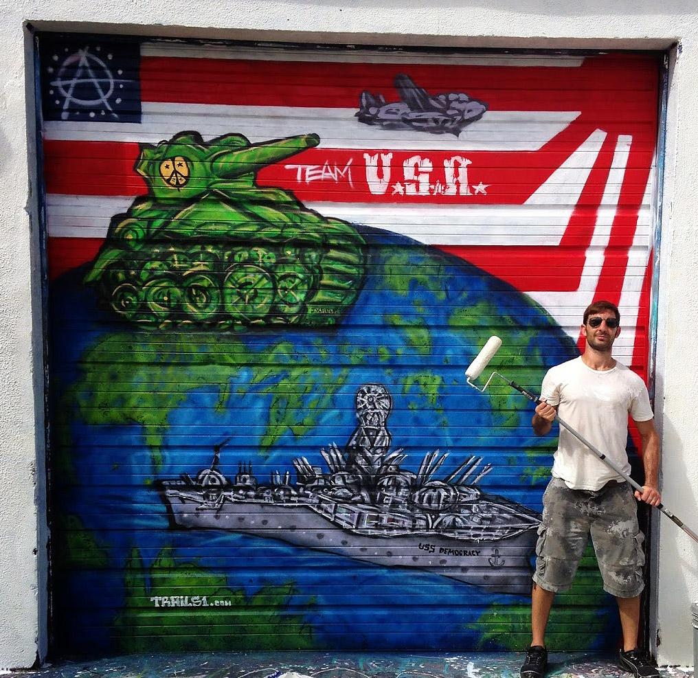 WW2 Street Art Mural