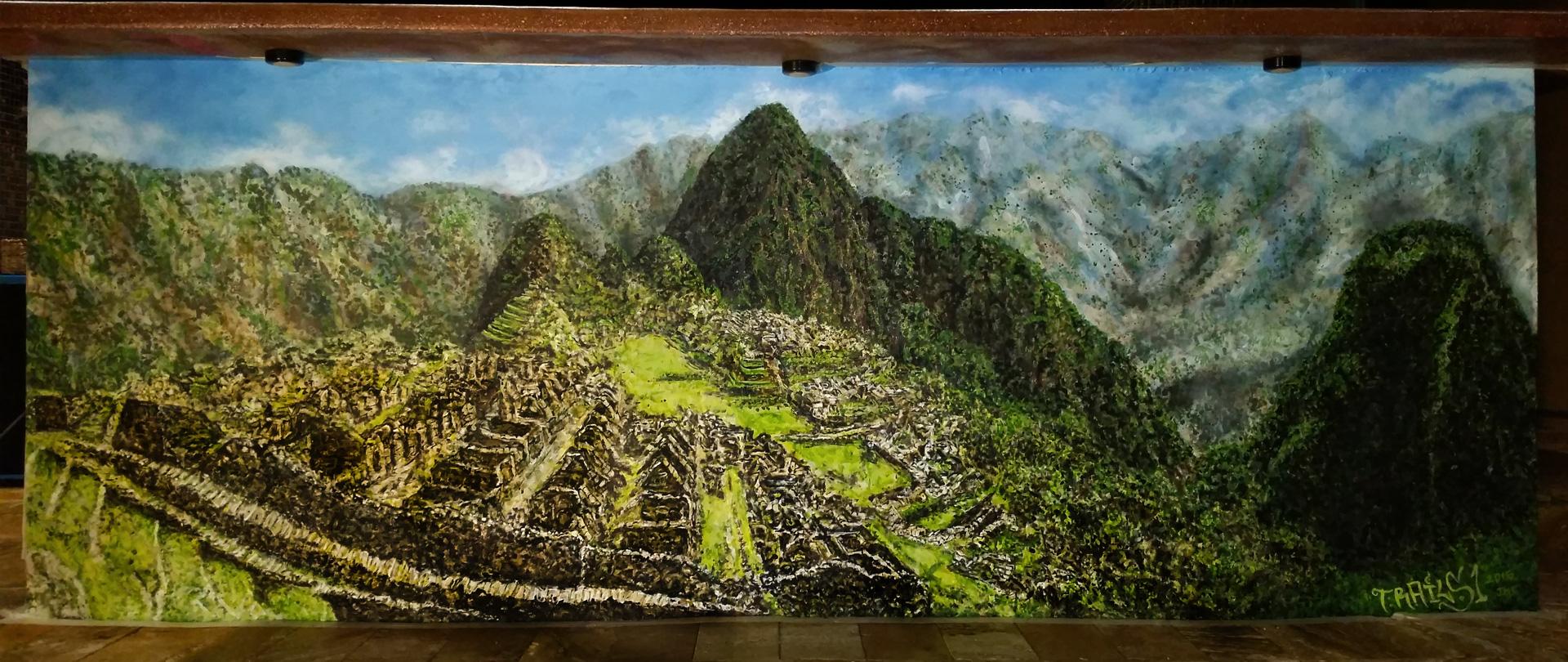 3×7 Machu Picchu Mural
