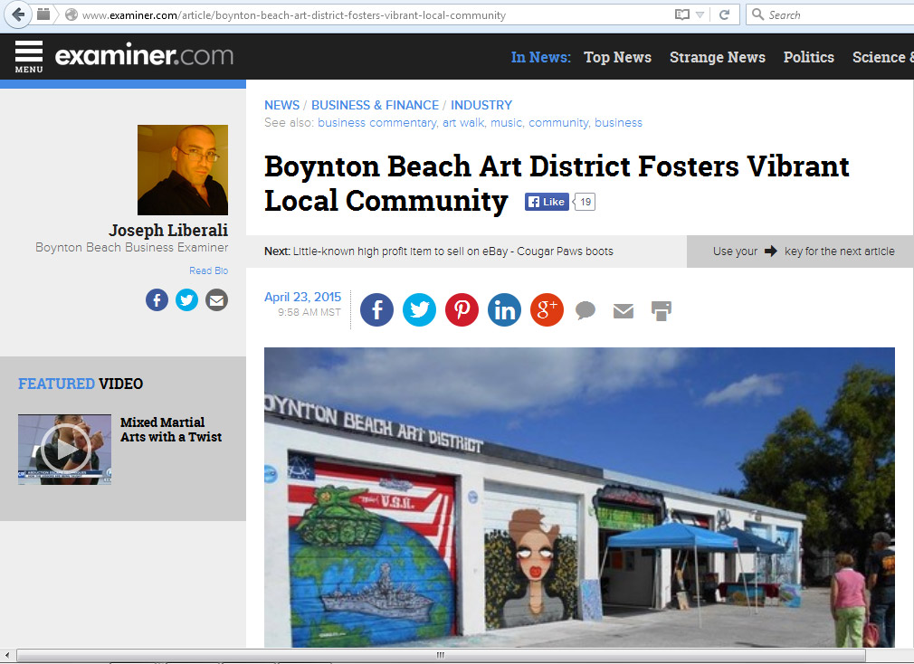 Miami Mural Artist Trails1 Boynton Art District Examiner