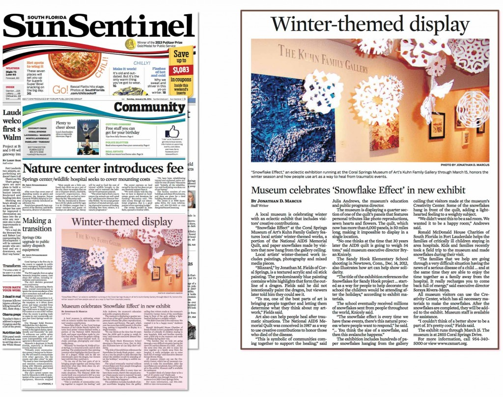 Sun Sentinel Coral Springs Museum of Art Trails1 Miami Artist